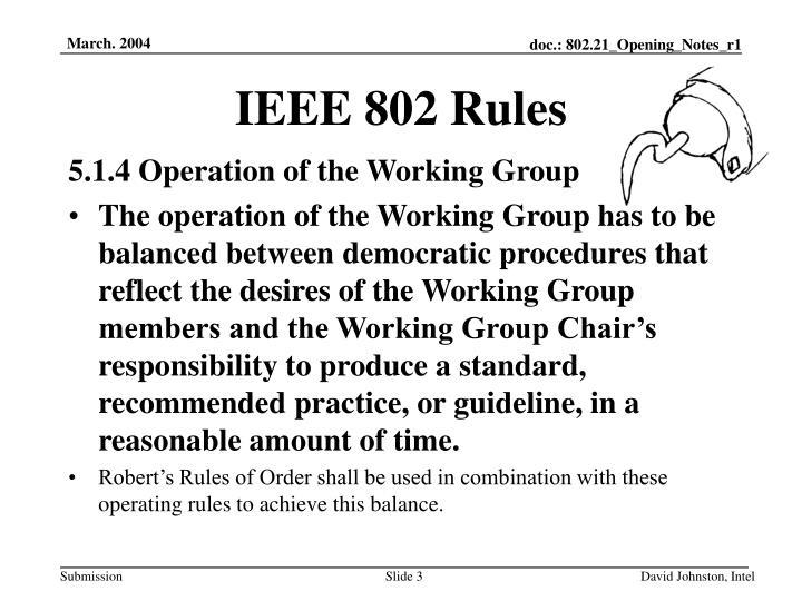 IEEE 802 Rules