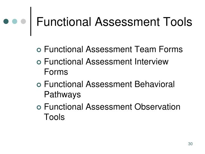 Functional Assessment Tools