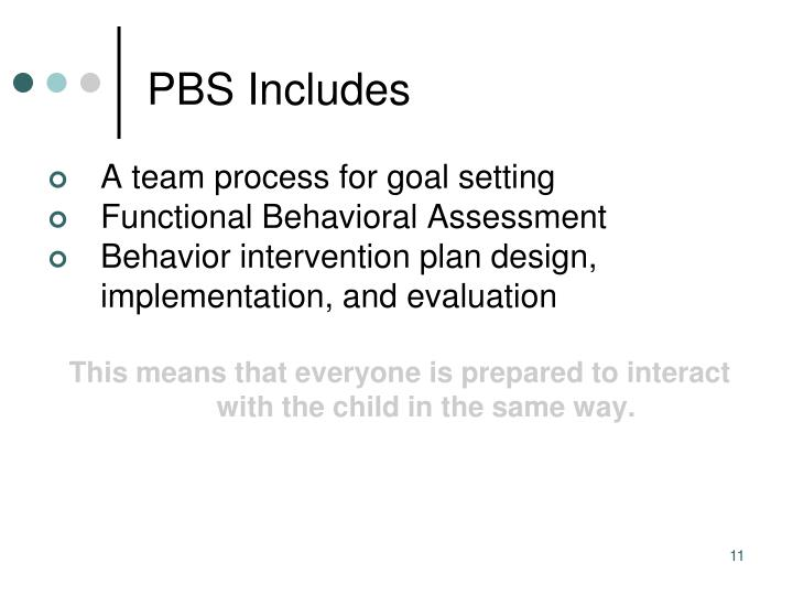 PBS Includes