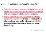 positive behavior support