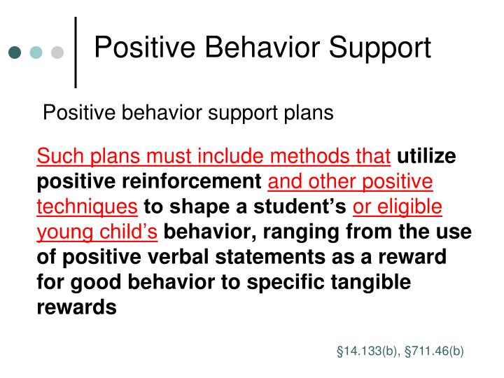 Positive Behavior Support