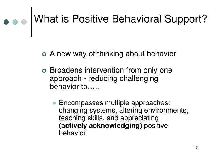 What is Positive Behavioral Support?