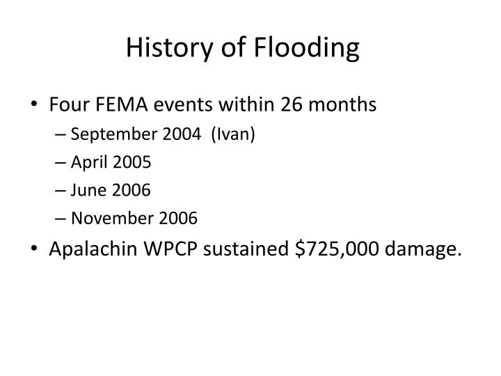 History of Flooding