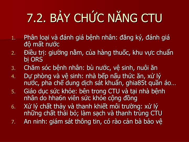 7.2. BẢY CHỨC NĂNG CTU