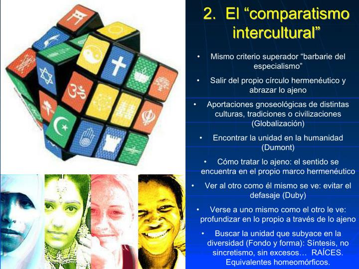 "2.  El ""comparatismo intercultural"""