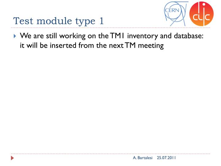 Test module type 1