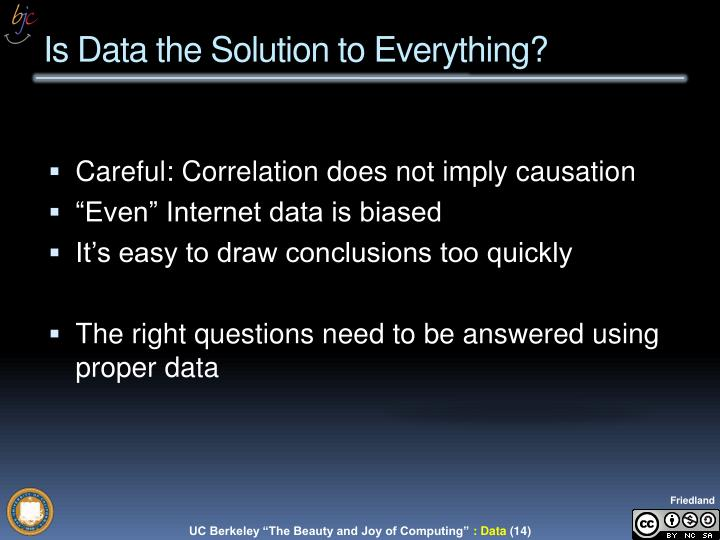 Is Data the Solution to Everything?
