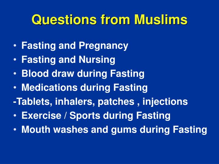 Questions from Muslims
