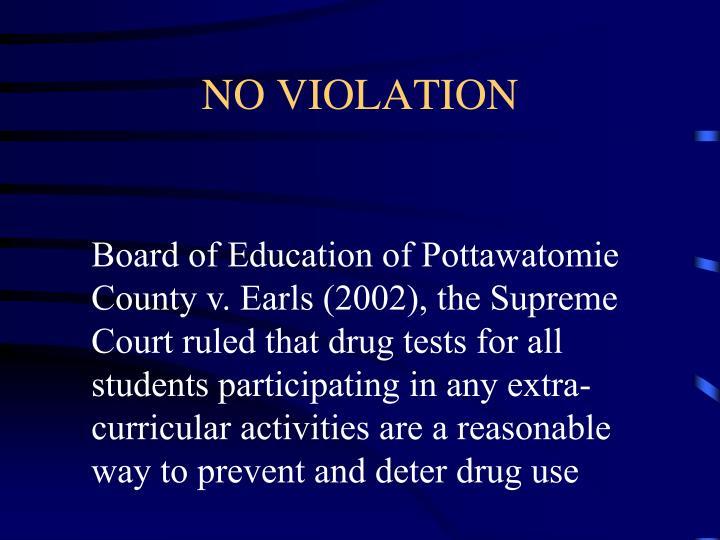 NO VIOLATION