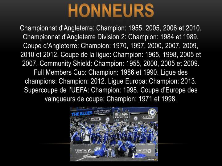 Honneurs