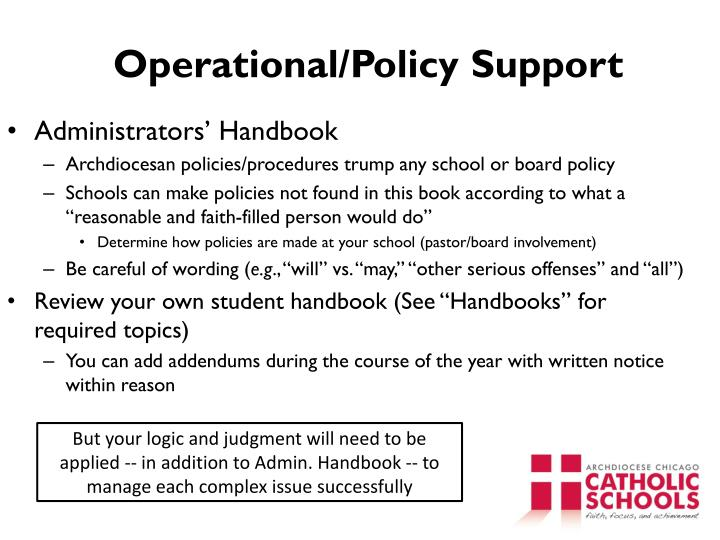 Operational/Policy Support