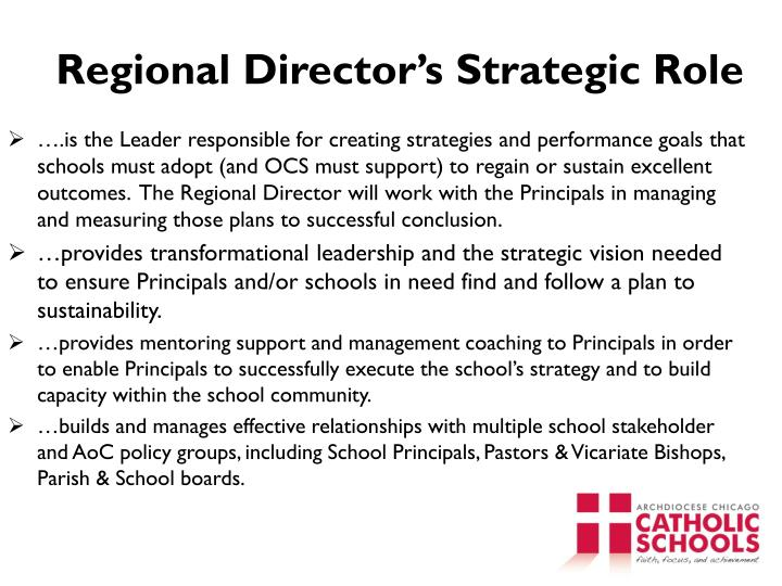 Regional Director's Strategic Role