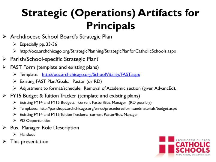 Strategic (Operations) Artifacts