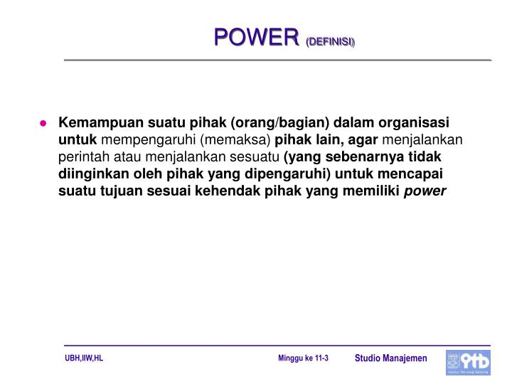 Power definisi