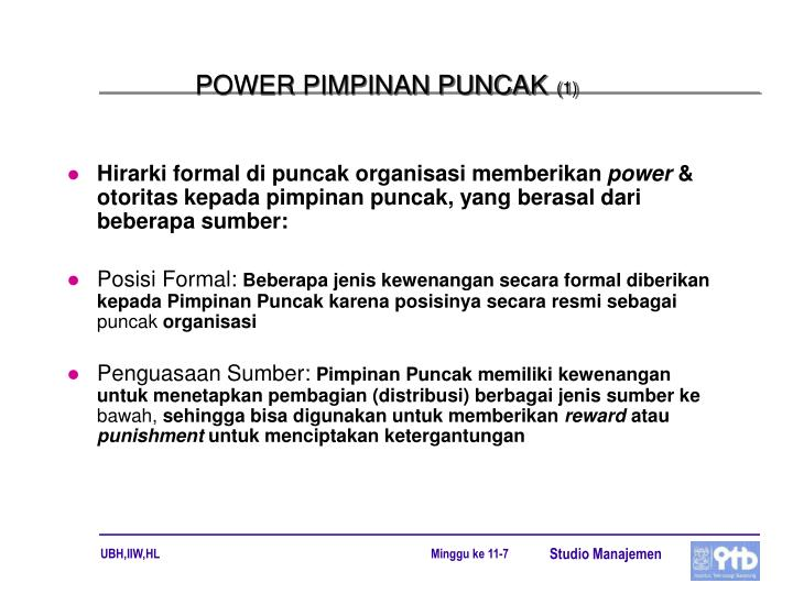 POWER PIMPINAN PUNCAK