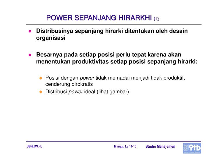POWER SEPANJANG HIRARKHI