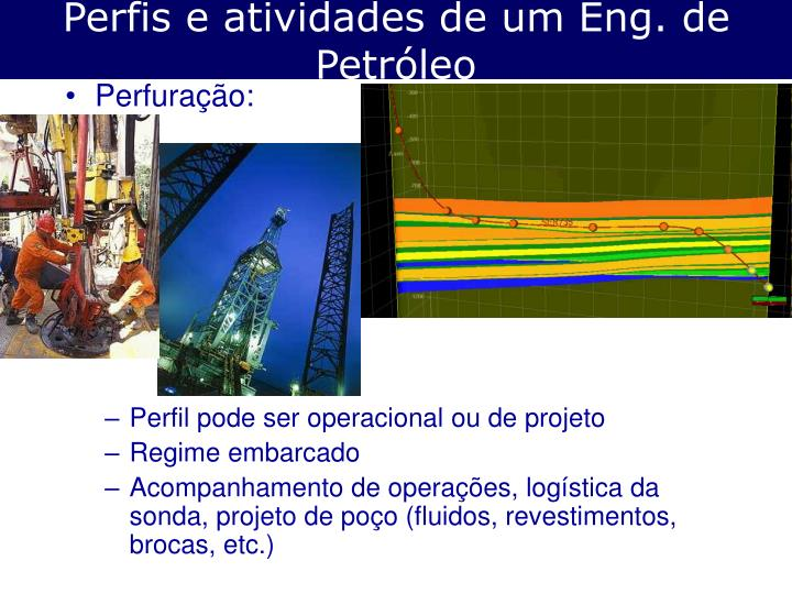Perfis e atividades de um Eng. de Petróleo