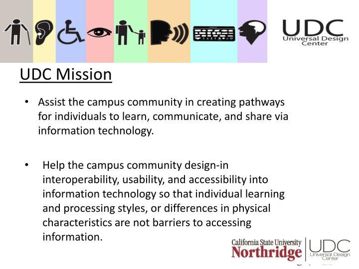 UDC Mission