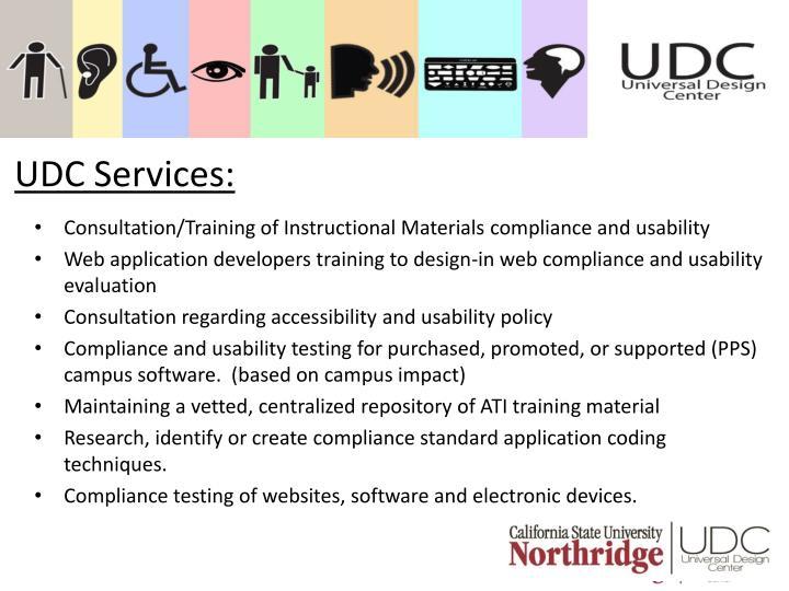 UDC Services: