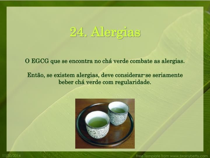 24. Alergias