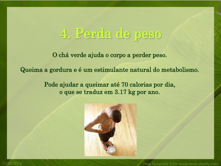 4. Perda de peso