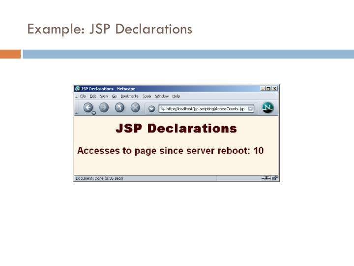 Example: JSP Declarations