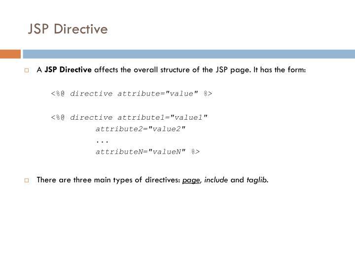 JSP Directive