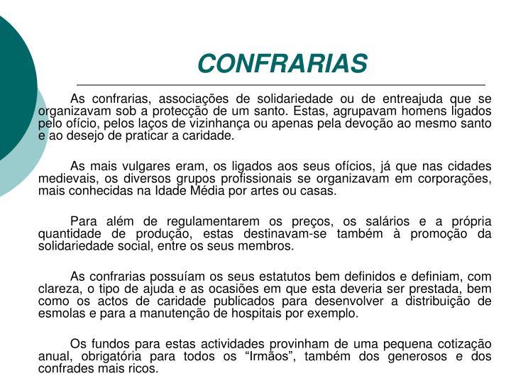 CONFRARIAS
