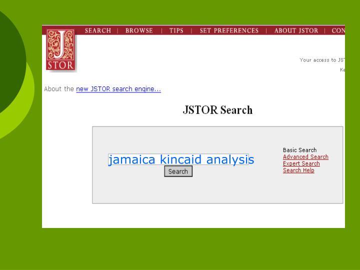 jamaica kincaid analysis