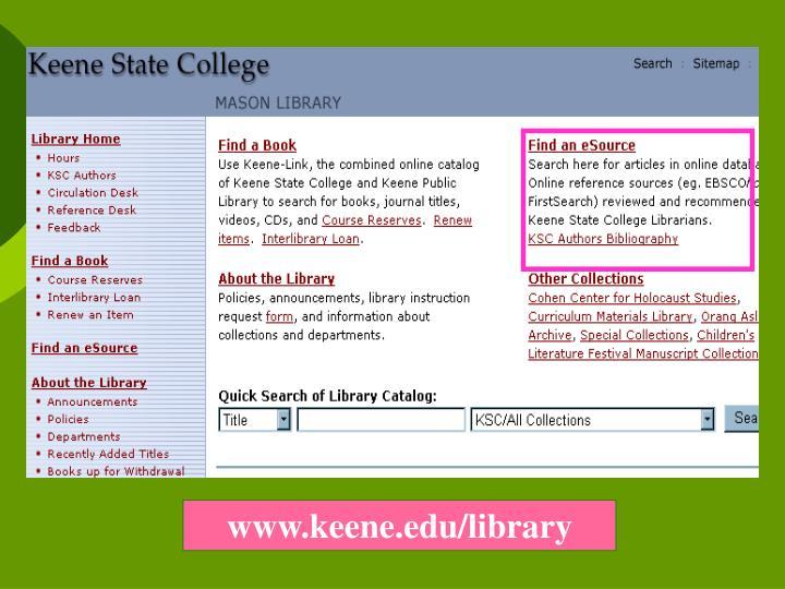 www.keene.edu/library