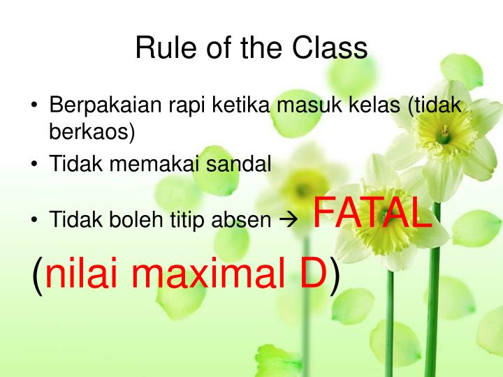 Rule of the Class