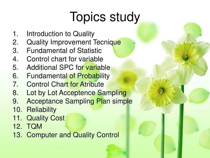 Topics study