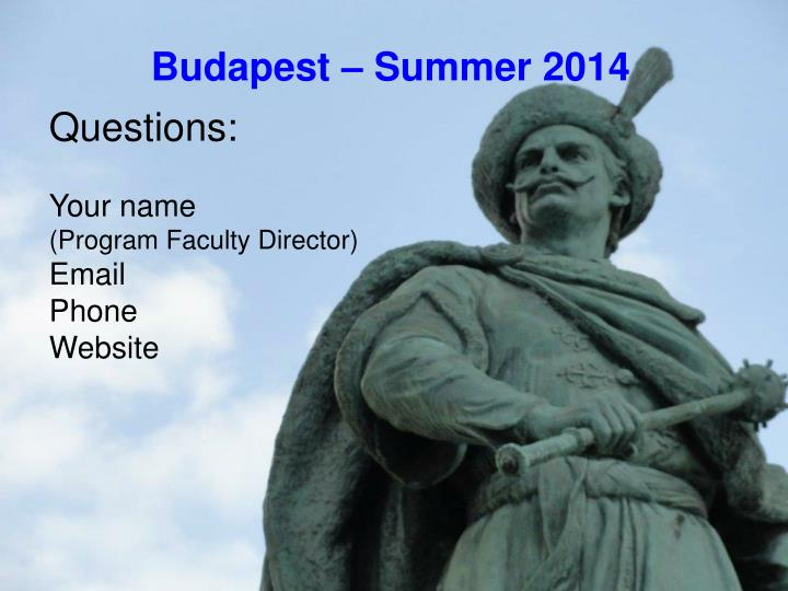 Budapest – Summer 2014