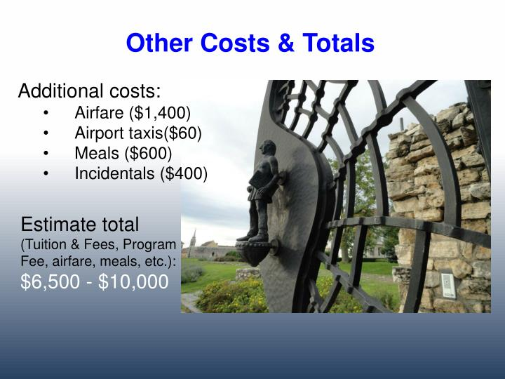 Other Costs & Totals