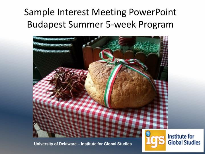 sample interest meeting powerpoint budapest summer 5 week program