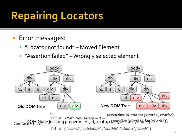 Repairing Locators