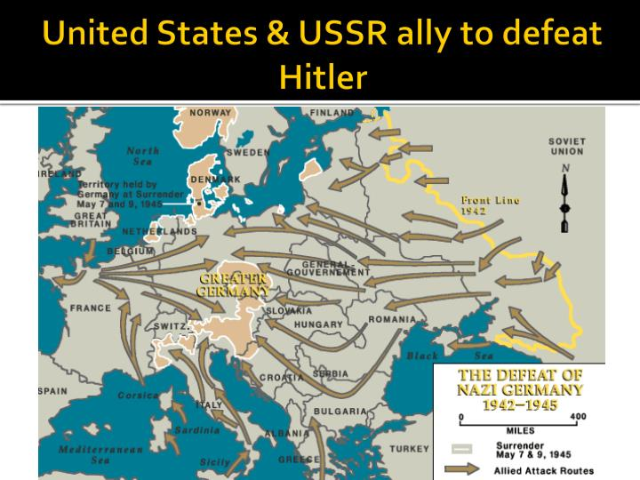 was the ussr able to defeat germany by 1945 essay Best answer: there were several reason that the soviet union was able to defeat germany first, and perhaps most important, was italy's folly into the balkens, from which germany had to rescue them this caused a delay in the german invasion of the soviet union of at least a month.