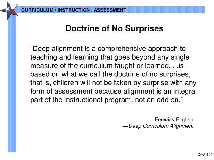Doctrine of No Surprises