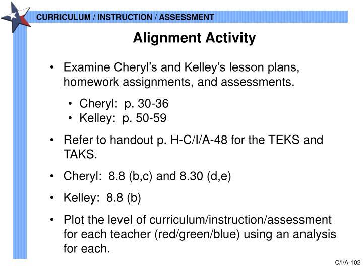 Alignment Activity