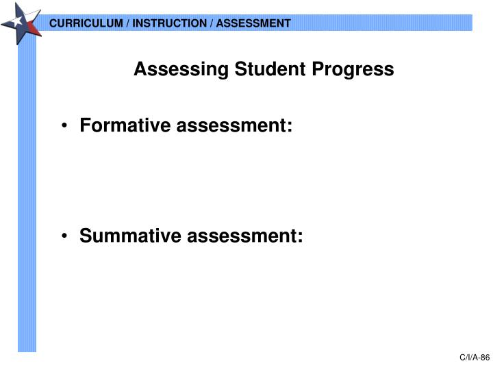 Assessing Student Progress