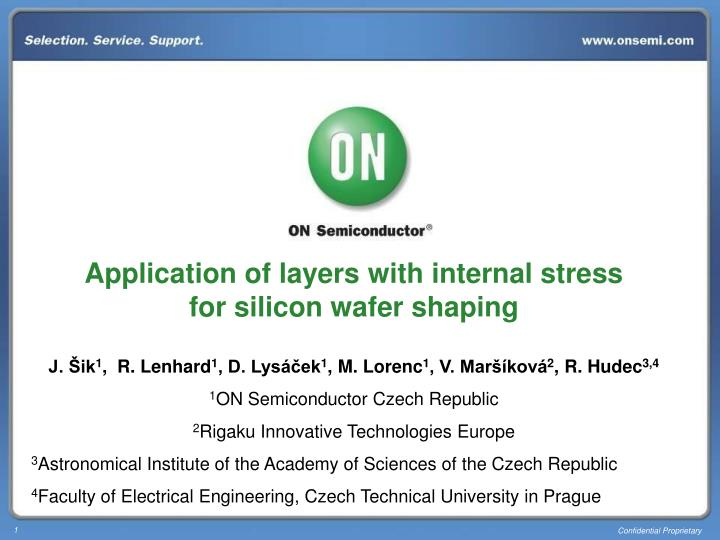 Application of layers with internal stress