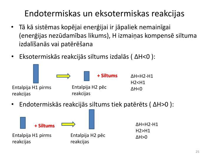 Endotermiskas un eksotermiskas reakcijas