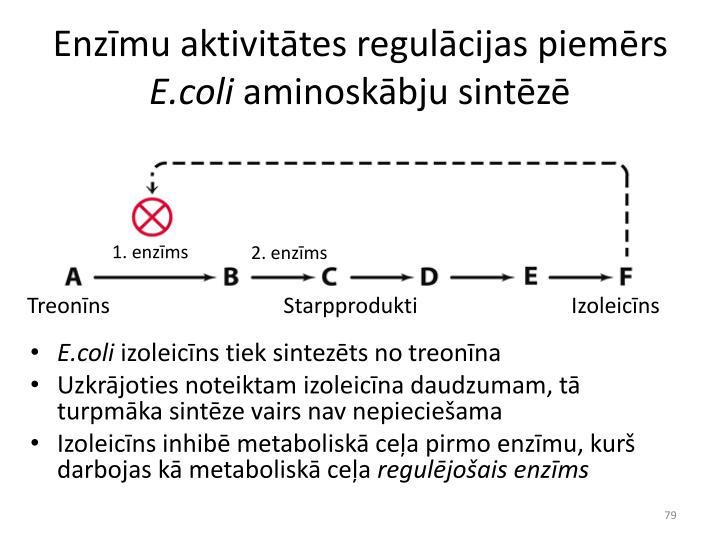 Enzīmu aktivitātes regulācijas piemērs