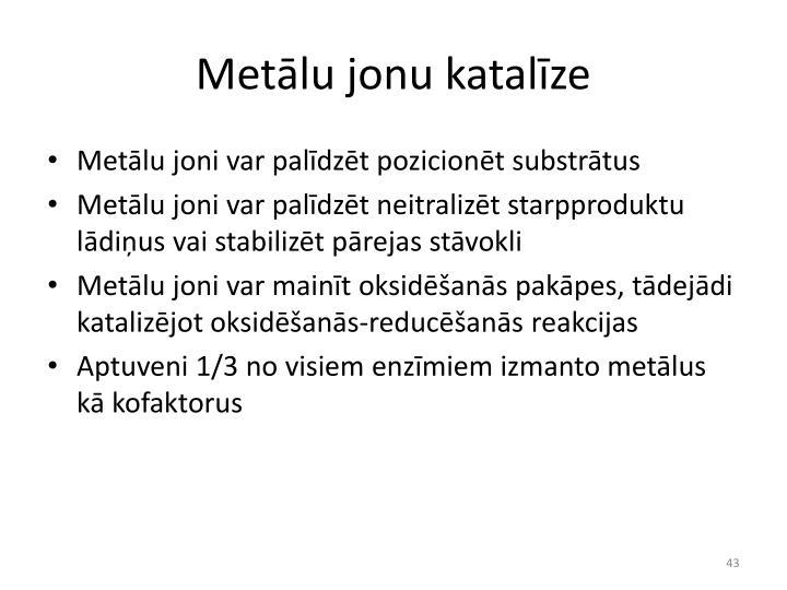 Metālu jonu katalīze
