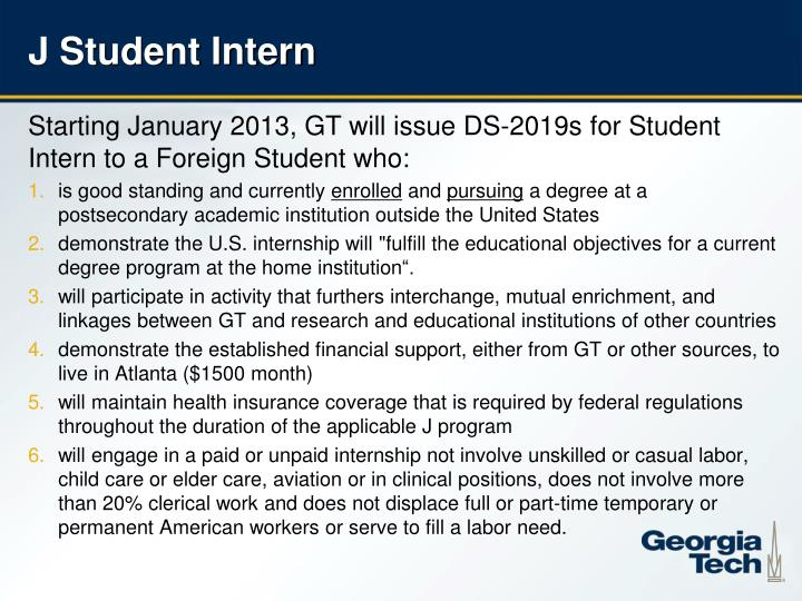 J Student Intern