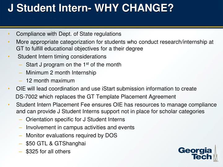 J Student Intern-