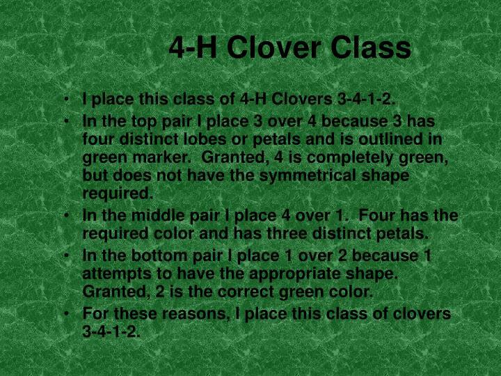 4-H Clover Class