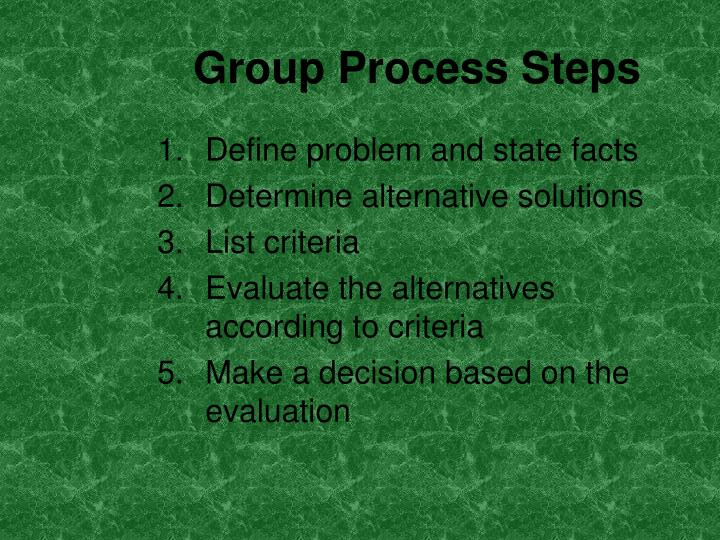 Group Process Steps