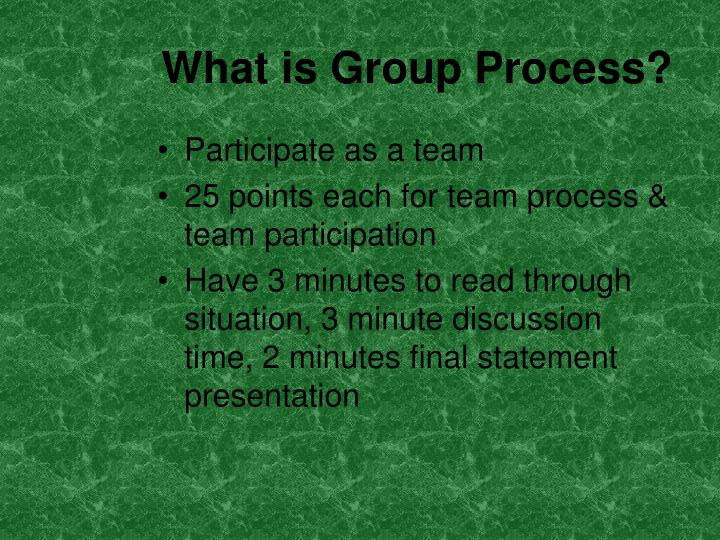 What is Group Process?