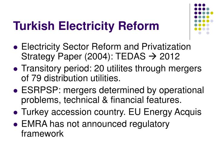 Turkish Electricity Reform